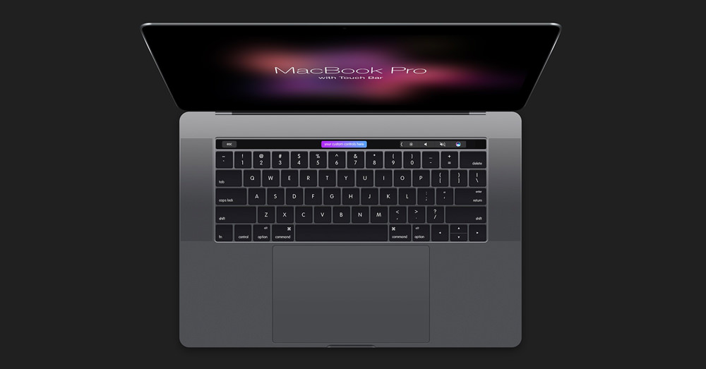 170314_photo004 | MacBook Pro Touch Bar and Touch IDの無料モックアップ素材